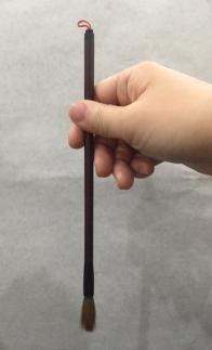 木村翼沙書道教室筆の持ち方基本単鉤法