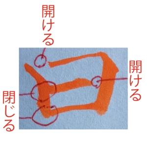 木村翼沙書道教室実用書コース囲み系文字について
